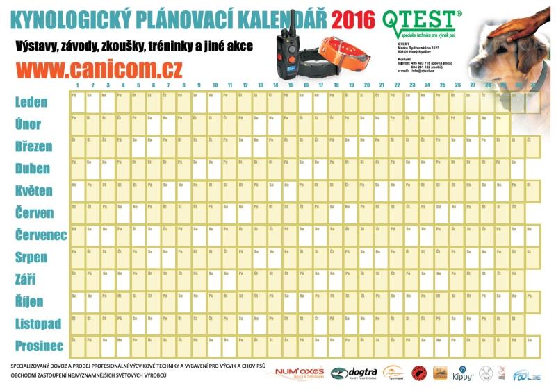 72c6938879 Kynologický plánovací kalendář 2016